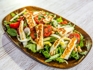 Halloumi, Chickpea and Veggie Salad