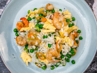 Shrimp and Fried Egg Rice