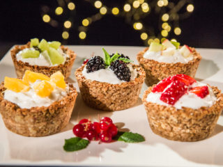 fruity oatmeal and banana cups