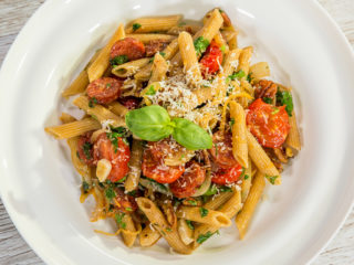 Chorizo and Cherry Tomato Penne
