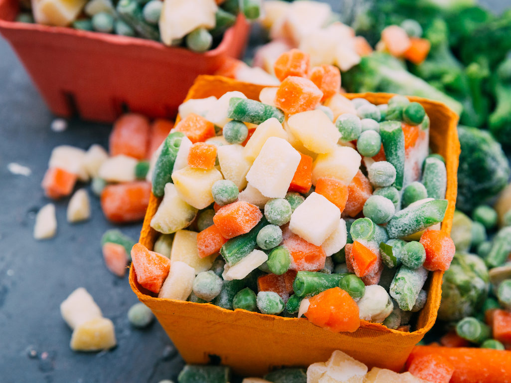 keep them near frozen vegetables you need all the time