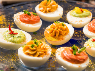 hot and spicy deviled eggs