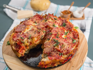 Salami and French Fries Casserole