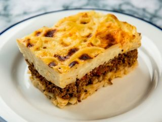 beef and bucatini casserole