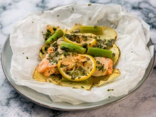 Microwaved Salmon en Papilotte