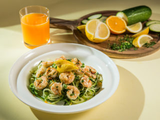 Grilled Shrimp Zucchini Noodles