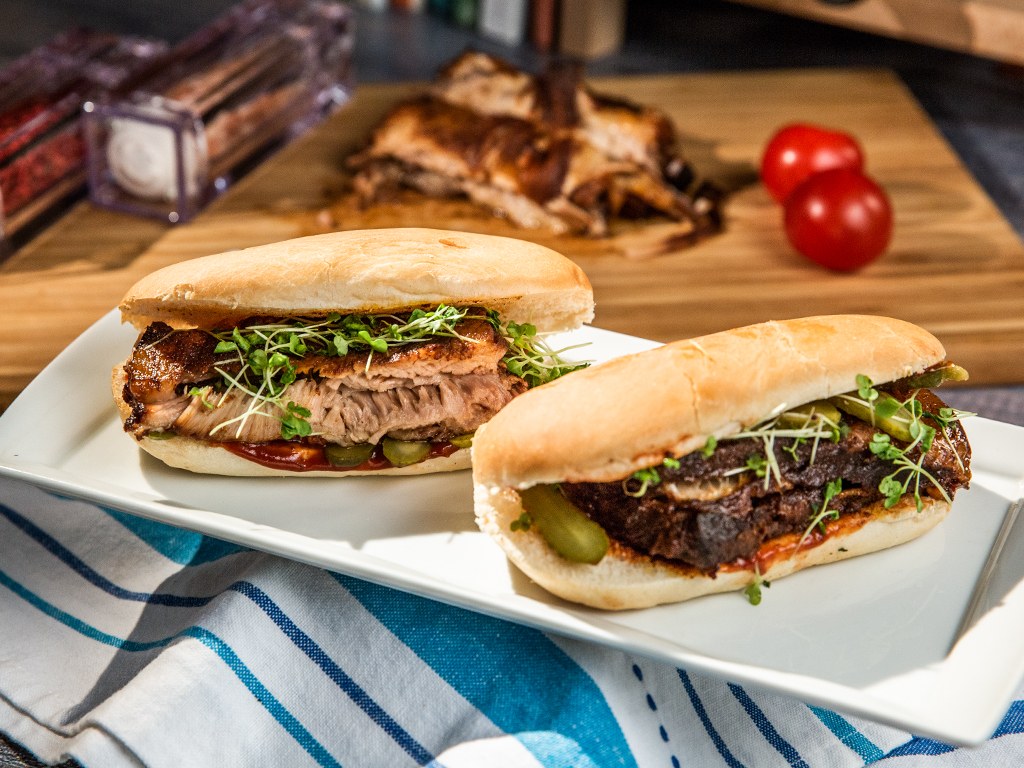 Slow-Cooked Rib Sandwich