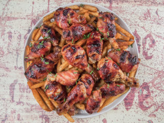 BBQ-Roasted Chicken with French Fries
