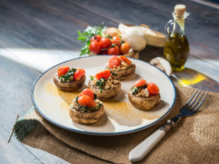 Turkey Stuffed Mushrooms