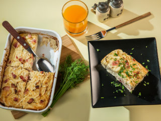 Celery Carbonara Casserole