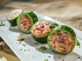 Salmon and Cucumber Snack