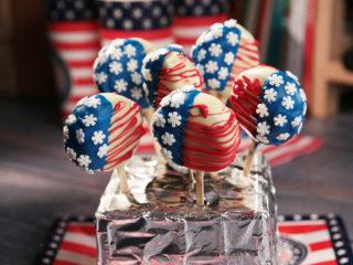 American Flag Oreo Pops
