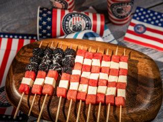 American Flag Skewers