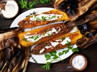 Grilled foods corn