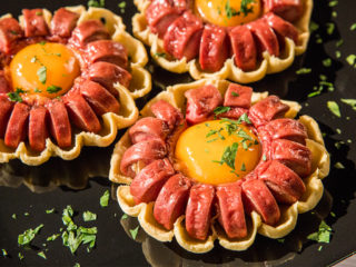 Puff Pastry Vienna Sausage Flowers