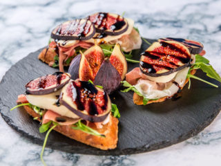 Fig, Prosciutto and Mozzarella Sandwiches