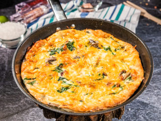 Bacon and Mushroom Frittata