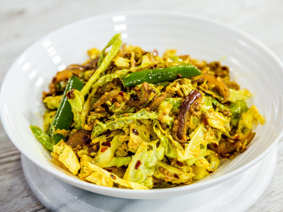 Indian Spiced Cabbage