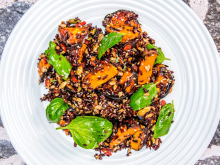 Sweet Potato, Black Rice and Goji Salad