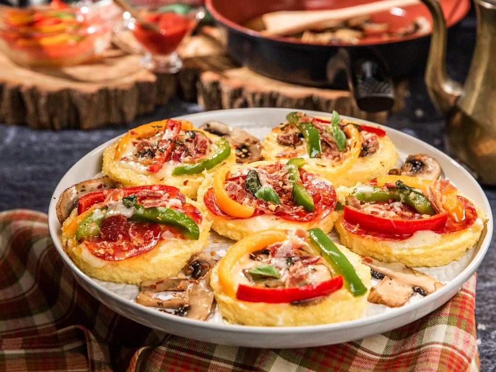 Polenta Mini-Pizzas