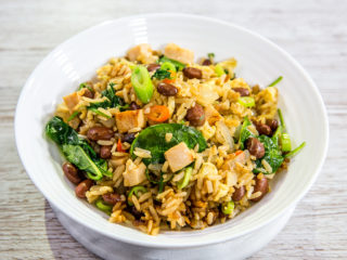 Fried Rice with Egg and Ham