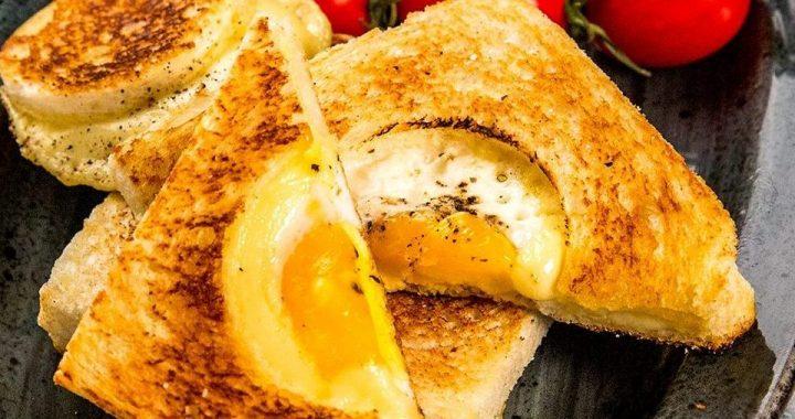 Egg in a Hole Sandwich