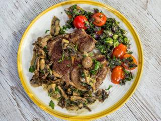 Beef Steak with Mushroom Gravy