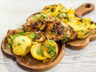 Spiced Chicken Legs with Potatoes