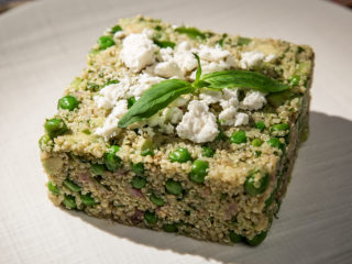 Quinoa And Pea Salad With Green Dressing lat 2