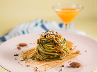 Almond Butter Zucchini Noodles