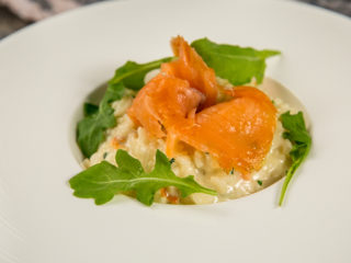 Smoked Salmon Cheesy Risotto