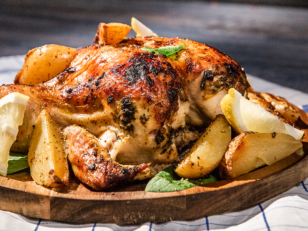 Allspice Roast Chicken with Potatoes