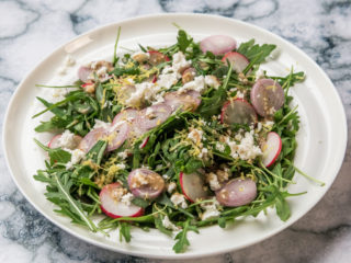 Radish and Feta Salad with Anchovy Vinaigrette