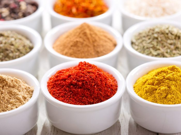 Perishable foods spices