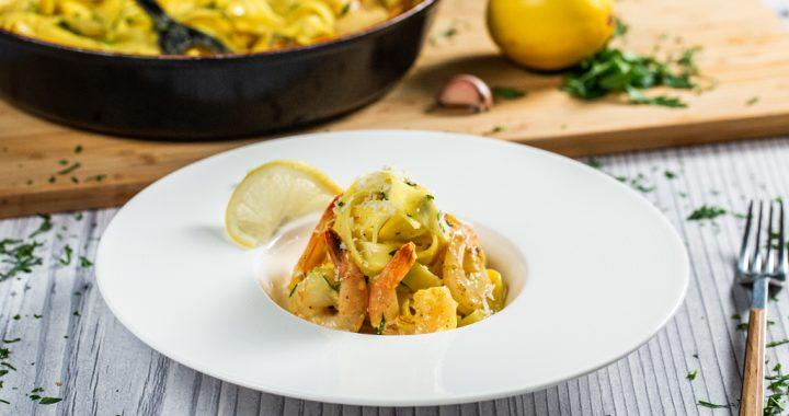 Saffron Shrimp Tagliatelle