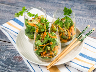 Lettuce and Carrot Salad with Sweet and Sour Dressing