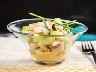 Seafood Salad with Creamy Hot Sauce
