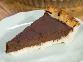 Coconut-Crusted Chocolate Pie
