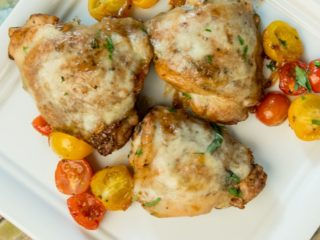 Mozzarella-Topped Chicken Thighs with Sweet Soy Sauce