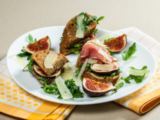Fig, Prosciutto and Cheese Sandwiches