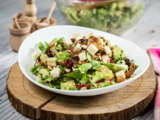 Apple, Quinoa and Blue Cheese Salad