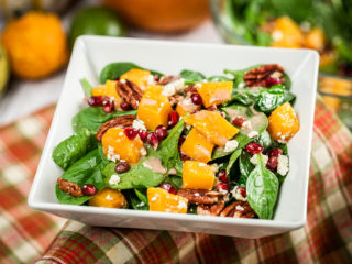 Roasted Squash, Spinach and Walnut Salad