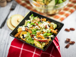 Fusilli, Apple and Orange Salad