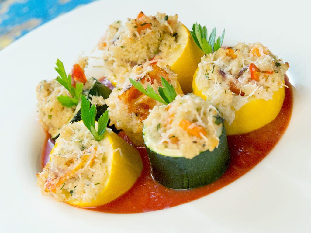 Bulgur-Stuffed Zucchini