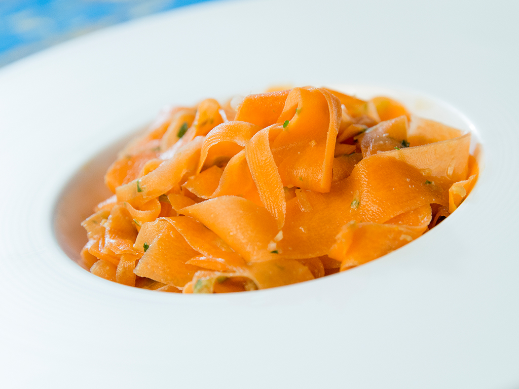 Carrot Strip Salad with Sweet Soy Dressing