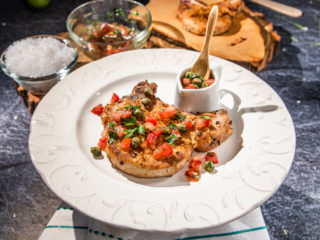 Pork Chops with Tomato and Caper Sauce