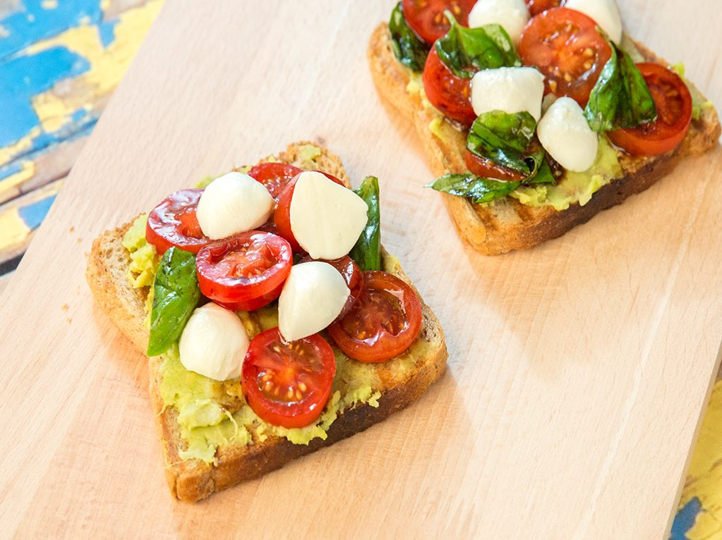 Avocado, Tomato and Mozzarella Sandwiches