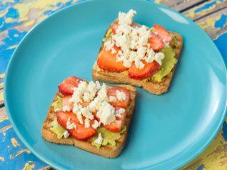Strawberry and Avocado Sandwiches