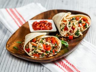 Chicken and Veggie Salsa Wraps