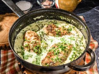 White Sauce Herb Chicken Breast